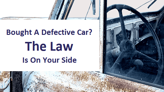 Title image - Bought a defective car? the law is on your side
