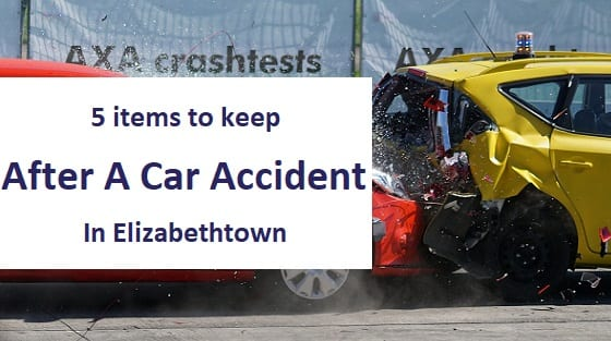 blog title - 5 items to keep after a car accident