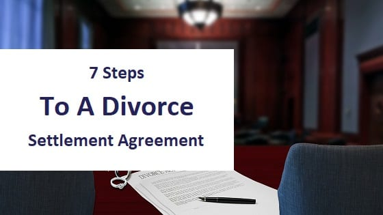 Title Image - 7 steps to a divorce settlement agreement