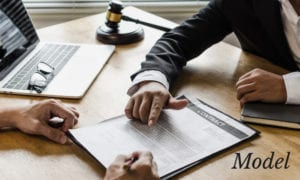 Lawyer Outlining Contract to Client in Office