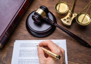 Hand Writing a Legal Document